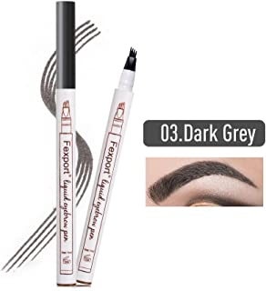 207979e331b Liquid Eyebrow Pen,Lamavido 3D Eyebrow Tattoo Pen, Microblading Eyebrow  Marker Pencil 4 Fork