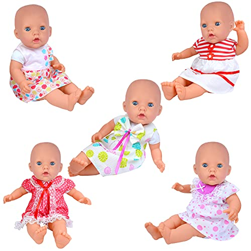 ZITA ELEMENT 5X Vestidos Lindo para Bebé Muñecas Ropa Muñecas 35-46cm Girl Doll