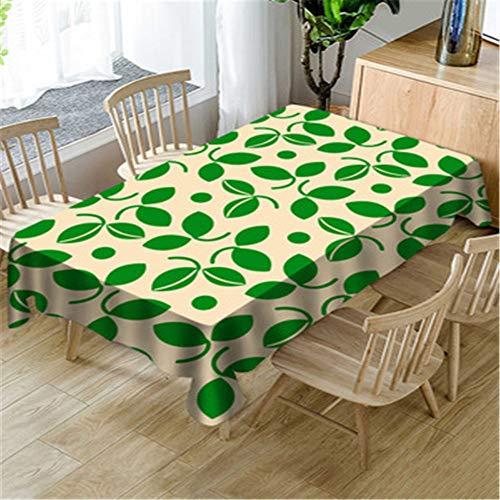 Lushi - Mantel nórdico minimalista, geométrico pequeño y fresco impermeable para mesa de comedor, Geometría Verde, 55.12*86.61