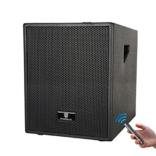 PRORECK Club B 12-Inch 4-Channel Stereo DJ/Powered Subwoofer with Bluetooth/USB/SD Card/Mic Input/XLR Input/RCA Input& Output