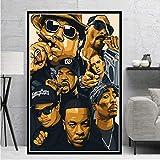 NOVELOVE Impresiones de Carteles Biggie Notorious 2PAC Jay-Z NWA Rapper Star Pintura Lienzo Arte Cuadros de Pared Decoración para el hogar Regalo sin Marco 50 * 70cm 3