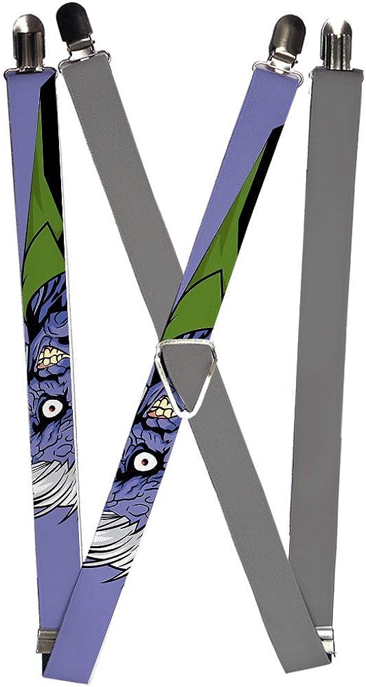 Suspenders Split Two Face Purple Plain Gray