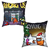 shenguang A-mong us Set of 2 Pillow Covers Warm Touch Decorative Cushion Cases Pillow Case for Sofa Couch Bedroom Car Spring Home Decor Square Pillowcase 16'x16'