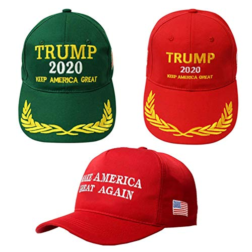 BraveWind Make America Great Again Hat The Ultimate Republiccan Donald Trump USA Cap Adjustable Baseball Hats for Men Women 3 Pack-2 Color