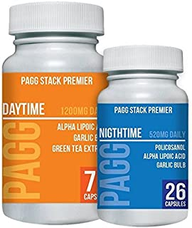 Premier PAGG Stack - Blend of 8 Potent Dietary Supplements - Builds Muscle and Aids in Weight Loss