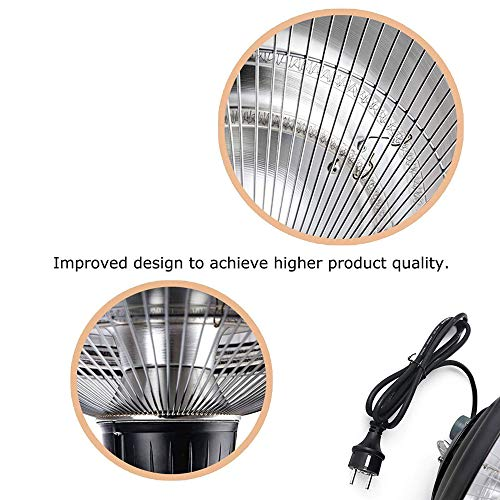 Outdoor Patio Heater, 2500W Hanging Electric Heater, 2 Adjustable Power Level Garden Electric Patio Heater for Balcony…