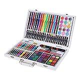 MOMIN del gráfico de Colores rotulador Arte Color de Madera Pintura Conjunto, Apto for niños de Usar 119 Piezas en Caja de Madera Pintura Dibujo Marcadores (Color : White, Size : Free Size)