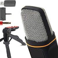 ZaxSound Professional Cardioid Condenser Microphone and Tripod Stand
