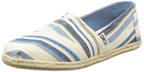 TOMS Damen Alpargata Espadrilles, Mehrfarbig (Blue Aster Woven Stripe), 36 EU