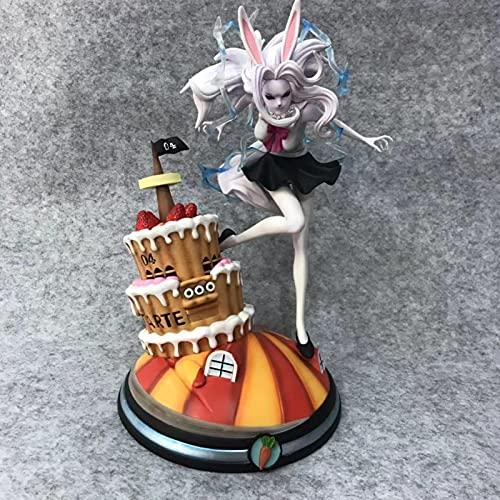 QWRT Dibujos Animados De Una Pieza Zanahoria Luna León Escenas De Combate 28Cm, Escultura De PVC Figura De Acción Colección Modelo Muñeca Juguete Regalo para Niños