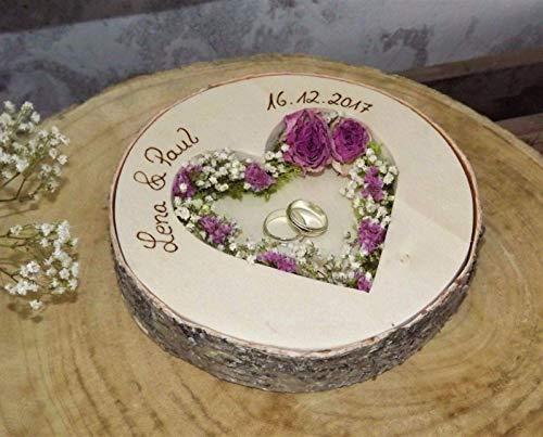 Almohada redonda anillos boda Mille Fleurs anillos