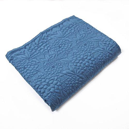 Stylemaster Gardenia Gesteppte Tagesdecke aus Twill und Birke für Doppelbett, Beige Queen Marineblau