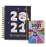 Alicia Souza - The 2021 Ultimate Planner & Pocket Planner | Gold Spiral Binder | Sturdy Printed Box...