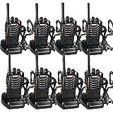 Walkie Talkie Recargable Bidireccional Transmisores-receptores Radio 5W 16 Canales 1500mah CTCSS DCS, con el Auricular Incorporado Antorcha de LED (8PCS)
