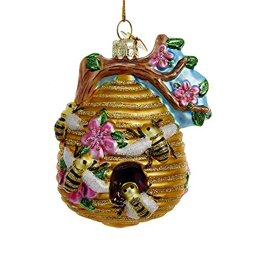 Kurt Adler  Beehive Glass Christmas Tree Ornament