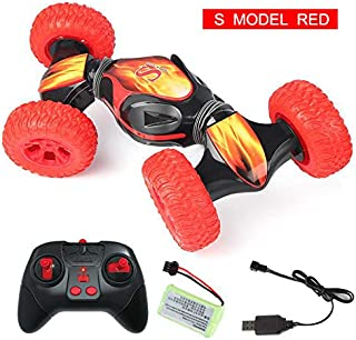 RC Cars, RFT RC Car for Boy Toy, Stunt RC Car,Top Toys for Christmas 2019 Birthday Gifts, RC Remote Control Car with Ultra-Sensing Transformer, Anti-Gravity. (with Drift, Red)