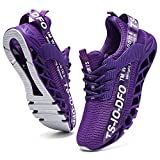 Mens Sneakers Fashion Gym Sport Trail Running Shoes Slip on Mesh Causal Athletic Tennis Walking Outdoor Runners Stylish Comfort Workout Cross Trainers Jogging Purple Size 9