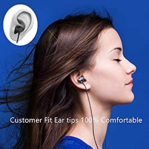 Earbuds Headphones Stereo in-Ear Earbuds with Microphone Mic and Volume Control Noise Isolating Wired Ear Buds Compatible Android Phone Tablet Laptop 3.5mm Devices Earphones