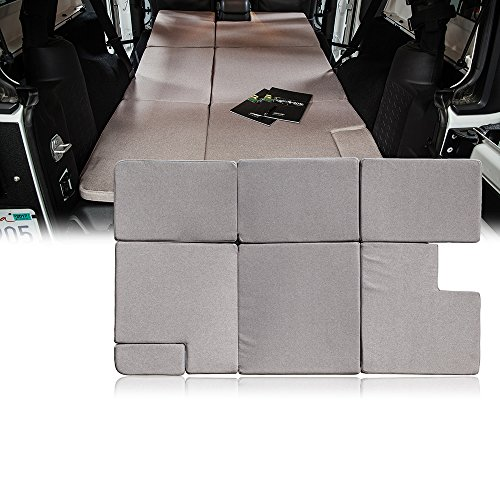 Xprite Sleeping Mattress Outdoor Camping Pad Bed Platform, NitePad Sand Premium 1.5-inch Thick Portable Trunk Cushion for 2007-2018 Jeep Wrangler JKU