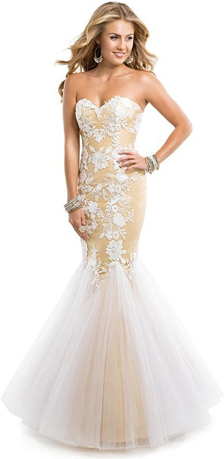 Aurora Bridal Womens Sweetheart Mermaid Lace FullLength Evening Formal Dress