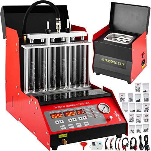 Mophorn CNC602A Injector Cleaner and Tester with 110V Transformer Car Motorcycle Fuel Cleaning Tools with Ultrasonic Cleaning Bath