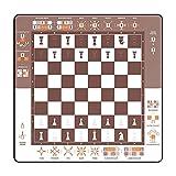 Alfombra de Juego, fácil de ajedrez, Tablero de ajedrez Enrollable, Aprender ajedrez, 40 x 40 cm