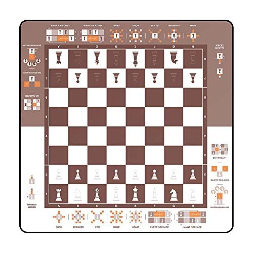 Immersion 2009875 - Alfombrilla de ajedrez (40 x 40 cm)