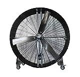MaxxAir BF60 High Velocity Industrial Belt Drive Barrel Fan. Heavy Duty Rolled Steel Housing, 19,000 CFM (60 Inch Barrel Fan)