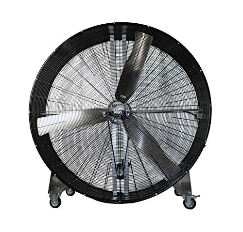 MaxxAir BF60 High Velocity Industrial Belt Drive Barrel Fan. Heavy Duty Rolled Steel Housing, 19,000 CFM (BF60BDBLK)