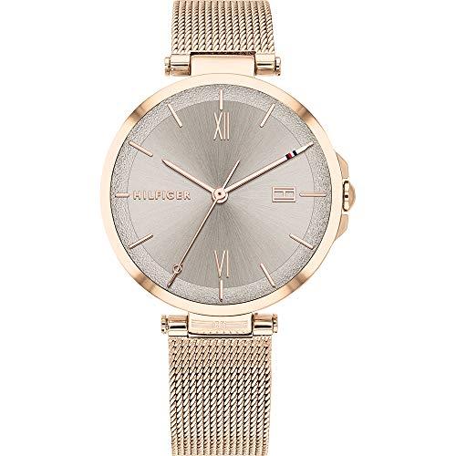 Tommy Hilfiger Reloj Analógico para Mujer de Cuarzo con Correa en Acero Inoxidable 1782208