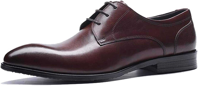 MSSugar Pour des hommes Affaires chaussures Robe, Bout Pointu à Lacets en Cuir Oxford Mariage Uniforme à la Mode Bureau Vintage