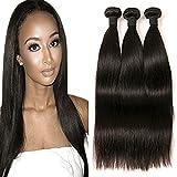 Péruvien Tissage Straight Hair 3 Paquets Cheveux Humains en lot pas cher Naturel 20 22 24 Inch