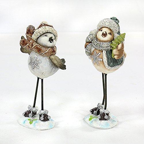 E affascinanti inverno, uccello con cappello nel Set di 2 - piccolo