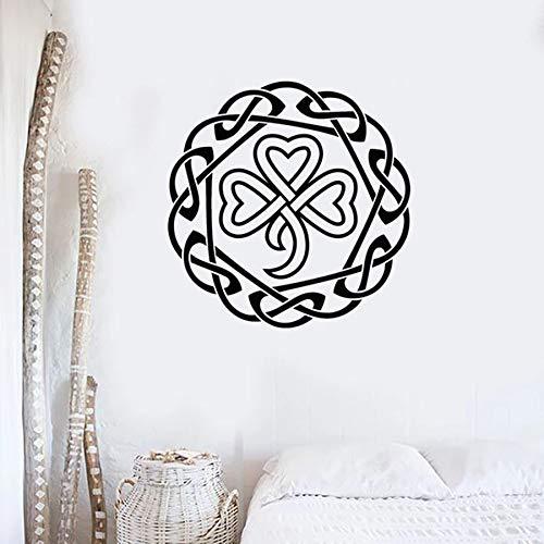 Etiqueta de la pared de la suerte símbolo decoración vinilo pegatina dormitorio sala de estar decoración del hogar