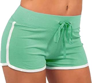 Women Casual Yoga Workout Gym Strappy Splicing Comfort Shorts