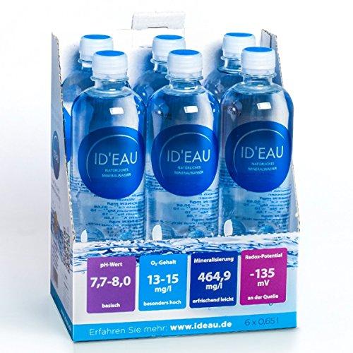 Mineralwasser ID'EAU regenerierendes stilles Wasser 0,65L 6er Pack (6 x 0,65L)