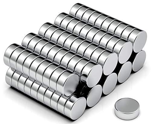 NeoMagNova 100 Stück Mini Neodym Magnet 5x2mm, Starke Magnete für Magnettafel, Whiteboard, Kühlschrank, Basteln, Neodym Magnete klein und extra stark N42