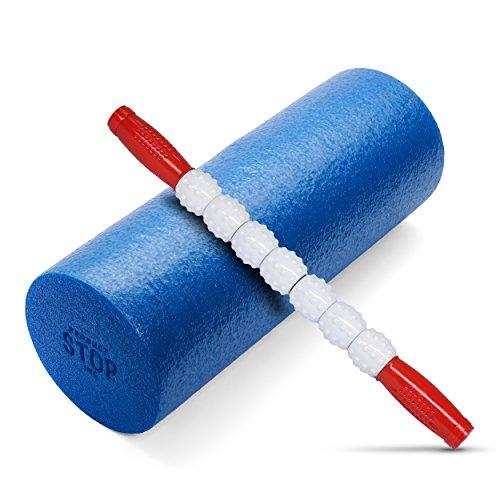 Übung Schaumstoff Roller–Professionelle Klasse, High-Density vereint Einzigartige 2in 1trigger-point Design–Massagen, beruhigt, erfrischt und belebt–passt in Ihrem praktischer Sporttasche, Light Blue Bumpy