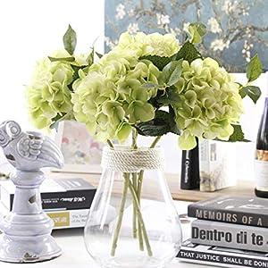 Famibay Ramos de Hortenisas Flores Artificiales De Seda Decirativas Centro de Mesa Flores para boda Hogar Hotel