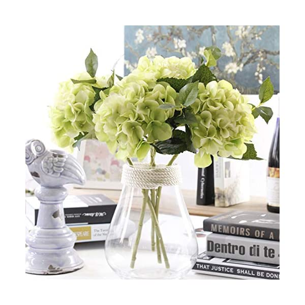 Famibay Flores Artificiales Hortensias Ramos de Flores Azules Seda Hortensias Planta para Bodas Hogar Hotel Decoración