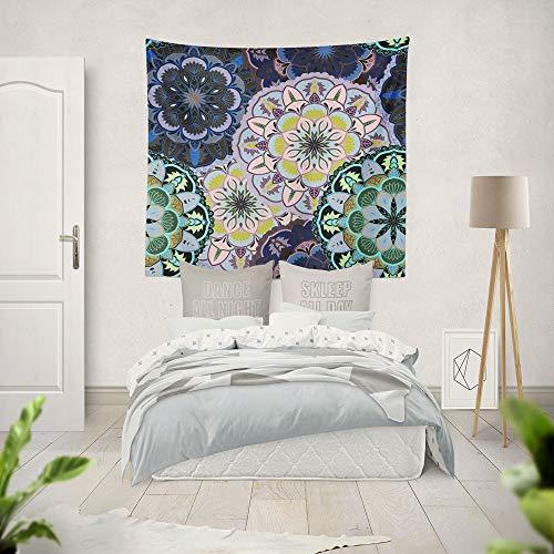 KHKJ Tapiz de Mandala Indio, Manta de Tela, Alfombra, decoración de Pared, decoración de habitación Colgante, Revestimiento de Paredes, Dormitorio A4, 150x130cm