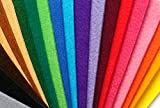 Pack Fieltro grueso 3mm.- 28 colores ( 20x10 cm.)