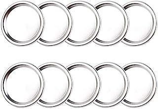 Lids/Bands For Mason Jars - 70mm/80mm Stainless Steel Canning Bands Lid Regular Mouth Split-type Lids Leak Proof And Secur...
