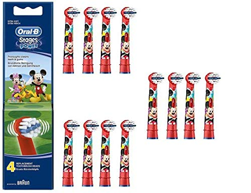 Oral-B Stages Power Mickey Mouse - Replacement Brush Heads (1 pack = 12 pieces) Disney for kids!