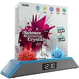 Dan&Darci Premium Remote Controlled Light-up Crystal Growing Kit Clock – Grow Your Own Crystals and Make Them Glow – Great Science Experiment Gift for Kids, Boys & Girls : STEM Toys – Crystal Making