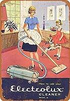 掃除機-ティンサインヴィンテージノベルティ面白い鉄の絵の金属板