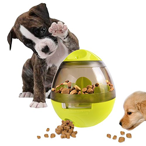 AIBOONDEE Tumbler Automatic Pet Slow Feeder Treat Ball Dog Toy for Pet...
