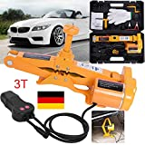 12V Elektrischer Wagenheber 3T Rangierwagenheber Scherenlift Heber für Auto KFZ