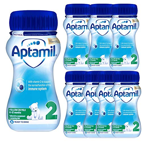 8 x 200ml Follow on No 2 Infant 6-12mth Baby Milk Ready Vitamin Mineral Drink UHT