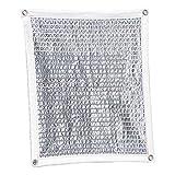 Lona 75% Sunblock Shade Cloth Net Silver Resistente A Los Rayos UV, Malla De Sombra De Jardín para Cobertura Vegetal (Size : 4x8m)